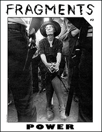 Zine cover: Dorothy Day defiantly faces down cops with guns