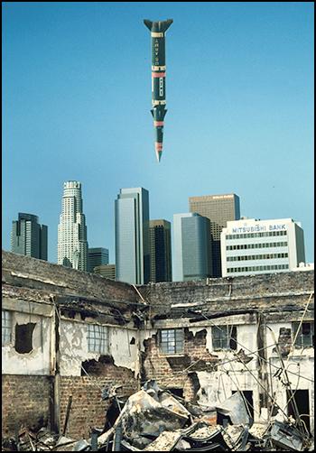 Missile hanging over L.A.