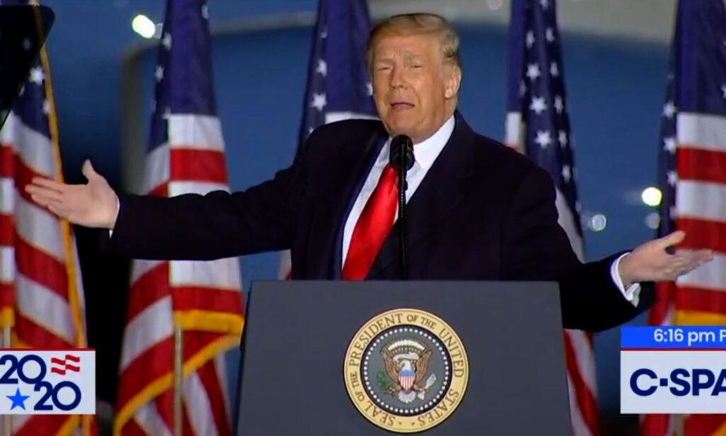 Trump gesturing